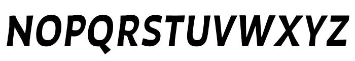 Auster SemiBold Italic Font UPPERCASE