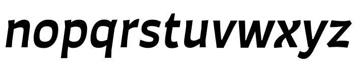 Auster SemiBold Italic Font LOWERCASE