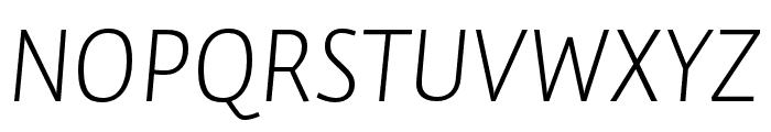 Auto Pro Light Italic Small Caps Font UPPERCASE