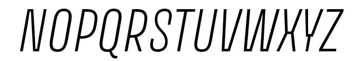 Avory I Latin Extralight Italic Font UPPERCASE