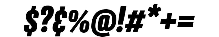 Avory I PE Black Italic Font OTHER CHARS