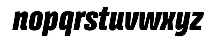 Avory I PE Black Italic Font LOWERCASE