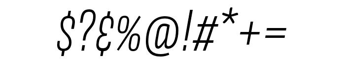 Avory I PE Extralight Italic Font OTHER CHARS