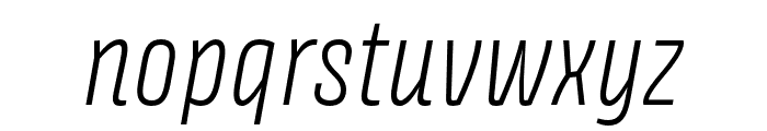 Avory I PE Extralight Italic Font LOWERCASE
