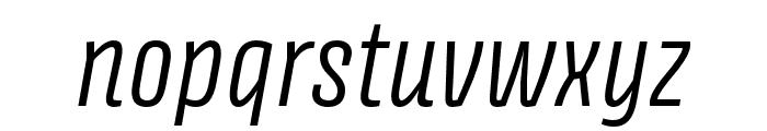 Avory I PE Light Italic Font LOWERCASE