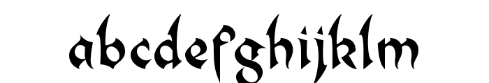 BC Rebecca Sharp Font LOWERCASE