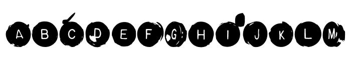 Backspacer OT Square Font LOWERCASE