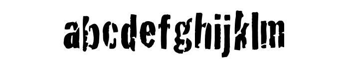 BadNeighborhood Condemdhouse Font LOWERCASE
