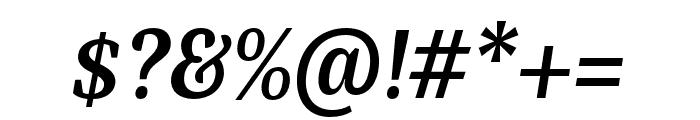 Bagatela BoldItalic Font OTHER CHARS