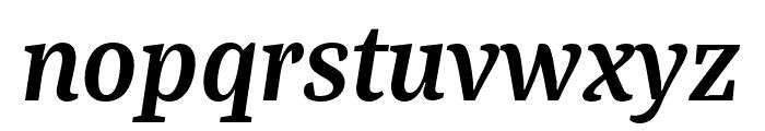 Bagatela BoldItalic Font LOWERCASE