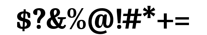 Bagatela Dark Font OTHER CHARS