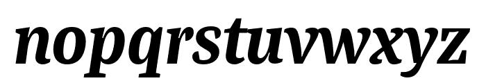 Bagatela DarkItalic Font LOWERCASE
