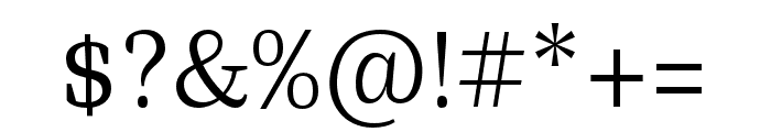 Bagatela Light Font OTHER CHARS