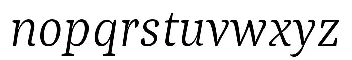 Bagatela LightItalic Font LOWERCASE