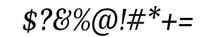 Bagatela MediumItalic Font OTHER CHARS