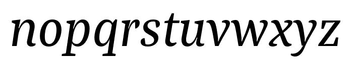 Bagatela MediumItalic Font LOWERCASE