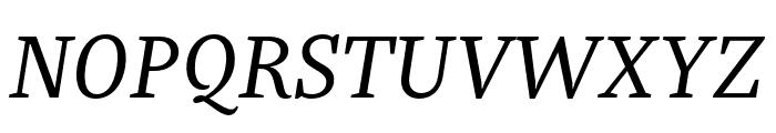 Bagatela RegularItalic Font UPPERCASE