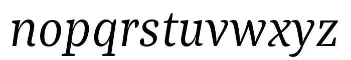 Bagatela RegularItalic Font LOWERCASE
