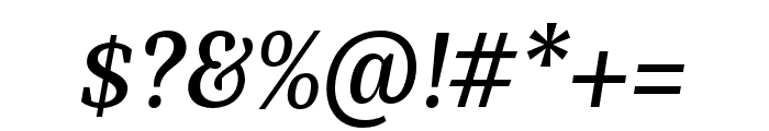 Bagatela SemiboldItalic Font OTHER CHARS