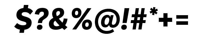 Ballinger Bold Italic Font OTHER CHARS