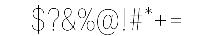 Ballinger Condensed Thin Font OTHER CHARS