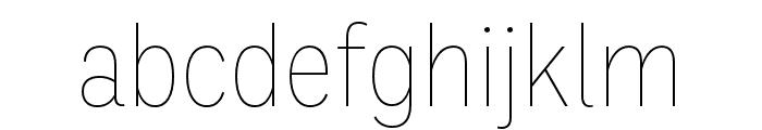 Ballinger Condensed Thin Font LOWERCASE
