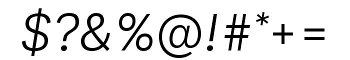 Ballinger Light Italic Font OTHER CHARS