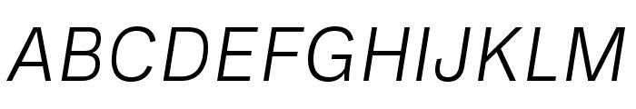Ballinger Light Italic Font UPPERCASE