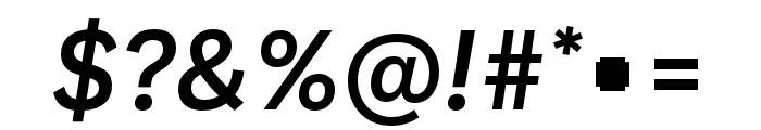 Ballinger Medium Italic Font OTHER CHARS