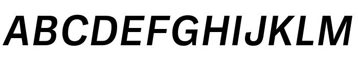 Ballinger Medium Italic Font UPPERCASE