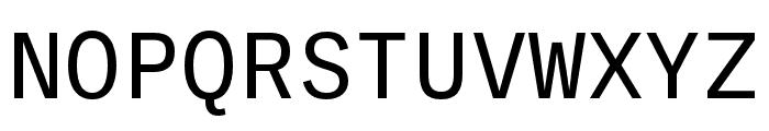 Ballinger Mono Regular Font UPPERCASE