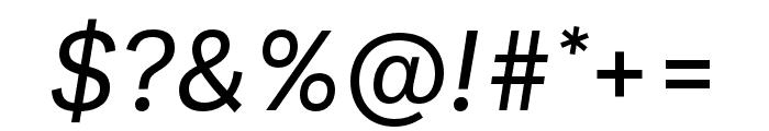Ballinger Regular Italic Font OTHER CHARS