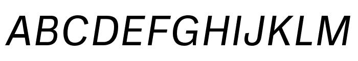 Ballinger Regular Italic Font UPPERCASE