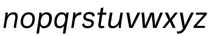 Ballinger Regular Italic Font LOWERCASE