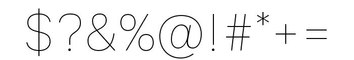 Ballinger Thin Font OTHER CHARS