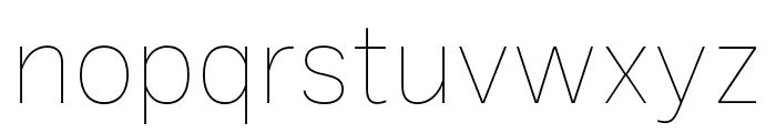 Ballinger Thin Font LOWERCASE