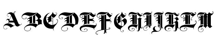 BaroqueTextJF Regular Font UPPERCASE