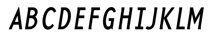 Base 12 Serif OT Reg Italic Font UPPERCASE