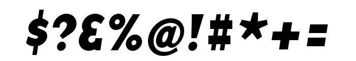 Base 9 Sans OT Bold Italic Font OTHER CHARS