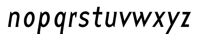 Base 9 Sans OT Reg Italic Font LOWERCASE