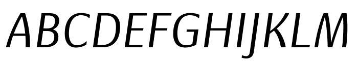 Basel Neue Regular Italic Font UPPERCASE