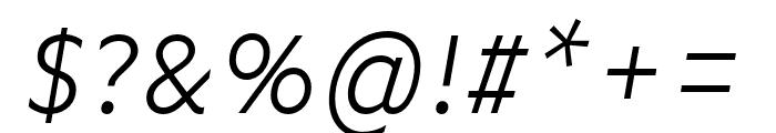 Basic Gothic Pro Light Italic Font OTHER CHARS