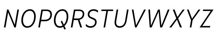 Basic Gothic Pro Light Italic Font UPPERCASE