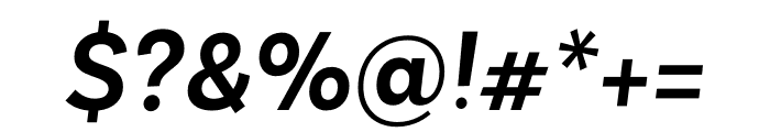 Basic Sans SemiBold It Font OTHER CHARS