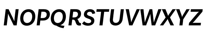 Basic Sans SemiBold It Font UPPERCASE