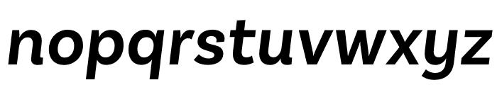 Basic Sans SemiBold It Font LOWERCASE