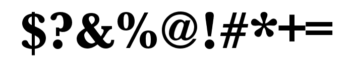 Baskerville URW Extra Bold Font OTHER CHARS