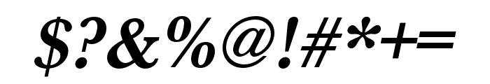 Baskerville URW Extra Narrow Bold Oblique Font OTHER CHARS