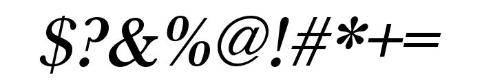 Baskerville URW Extra Narrow Medium Oblique Font OTHER CHARS