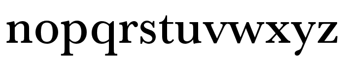 Baskerville URW Extra Narrow Medium Font LOWERCASE